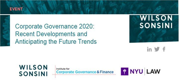Corporate Governance 2020: Recent Developments and Anticipating