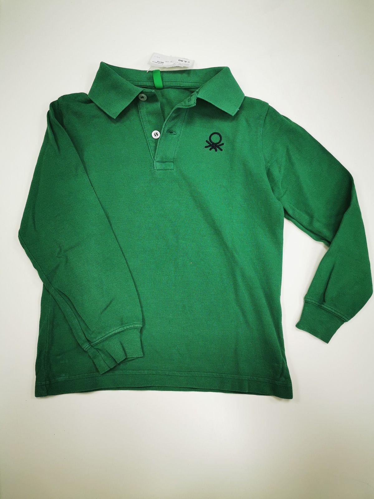 Polo Benetton verde Bimbo  4/5 anni  9675 Euro 5,90