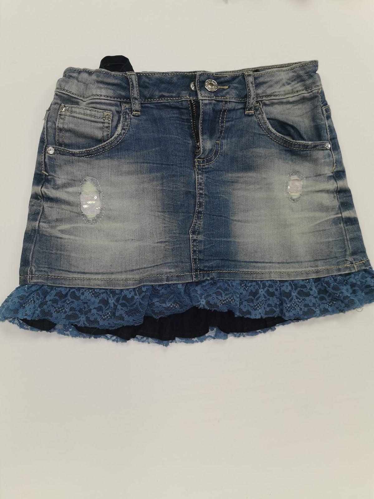 13273. Minigonna 8/9 anni jeans Euro 8,50