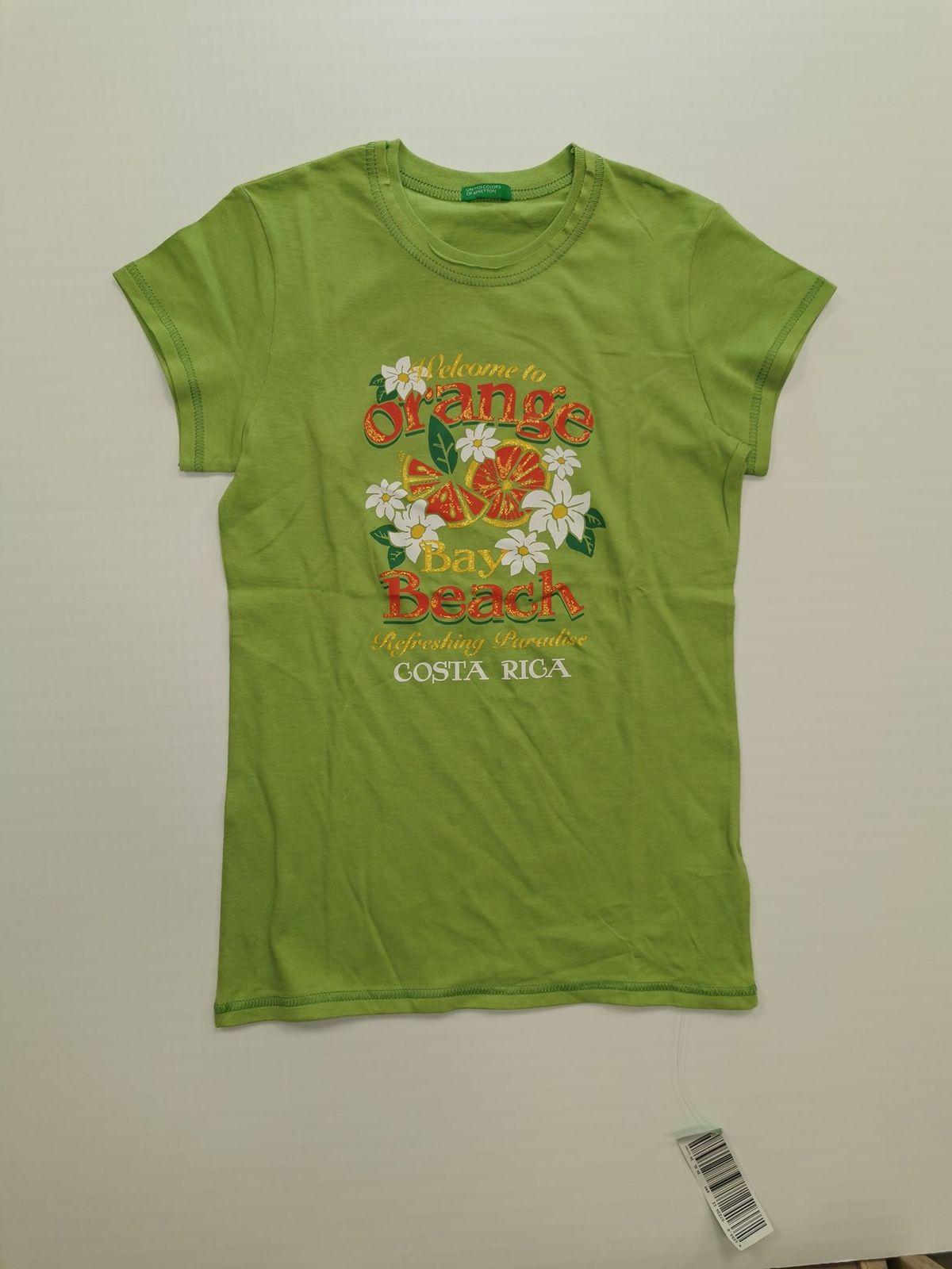 13063. Benetton maglietta verde 12 anni nuova Euro 8,90