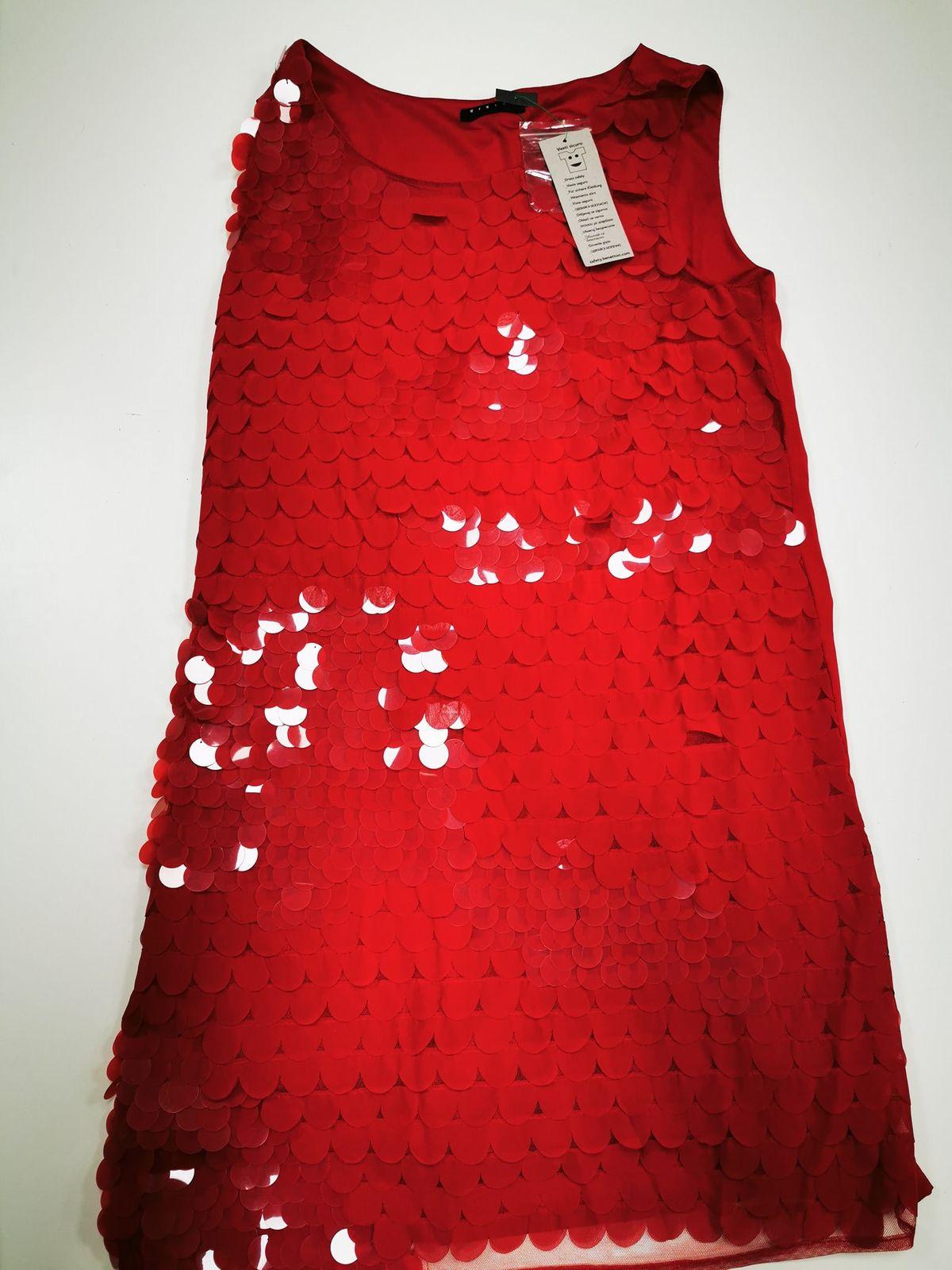 Sisley vestito rosso Bimba 12/13 anni 11445 Euro 29,00