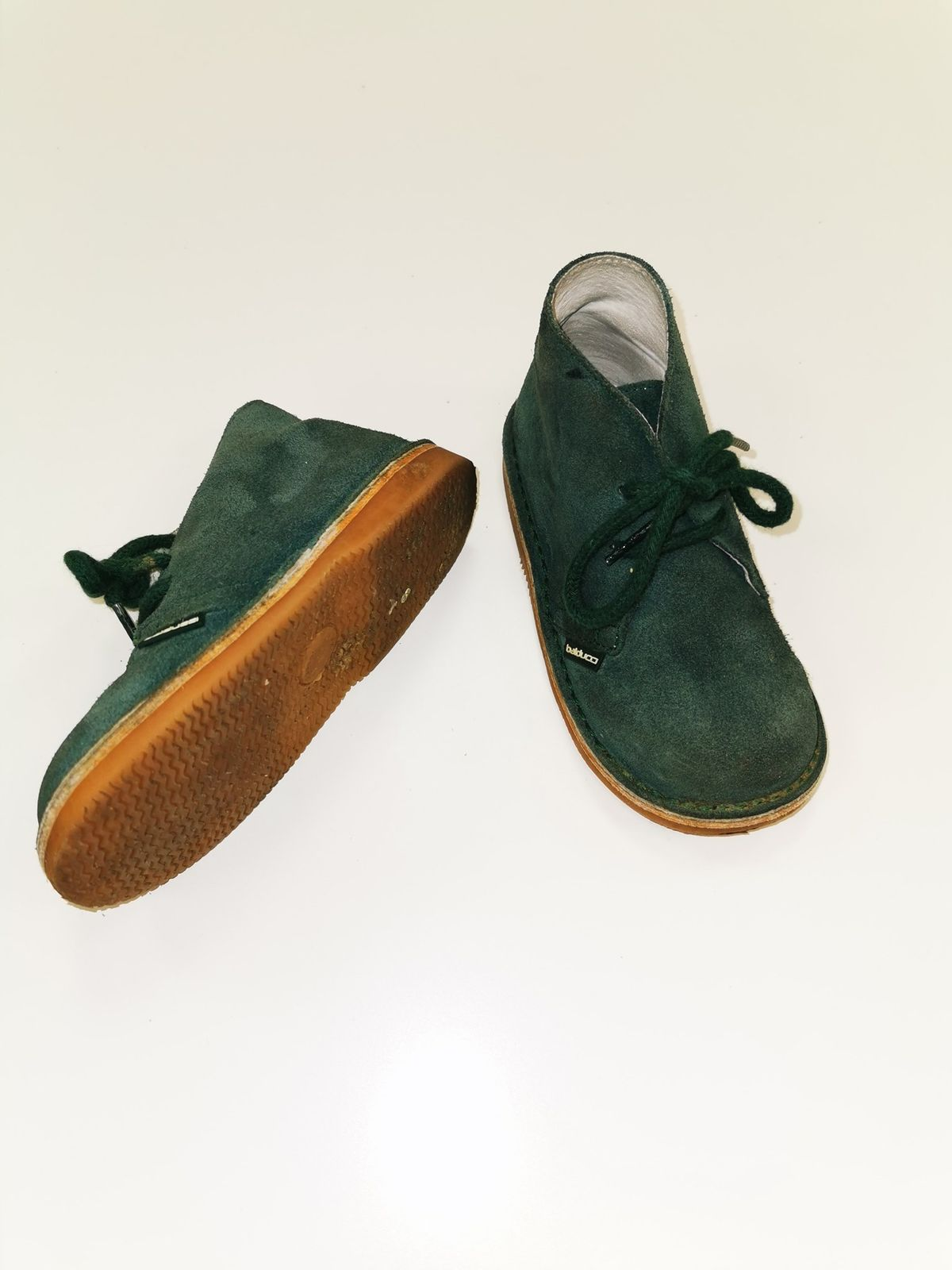Balducci scamosciato verde Bimbo N 24  9294 Euro 21,00