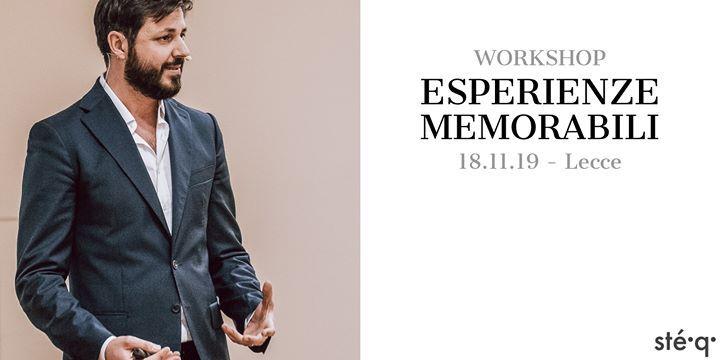 WORKSHOP // ESPERIENZE MEMORABILI (Workshop per operatori del settore...