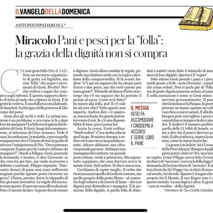 Antonio Spadaro (习安东) on LinkedIn: #dignità