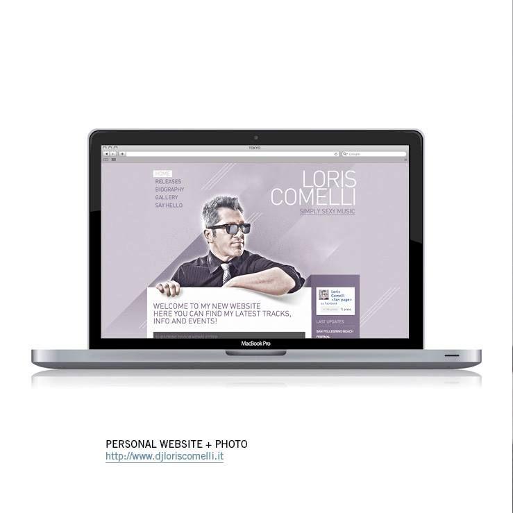 Progettazione grafica, photo e realizzazione del sito del dj Loris Comelli. Il sito contiene una sezione news per gli eventi, una lista dei dj set collegata con soundclud, una fotogallery e la possibilità di iscrizione alla newsletter.