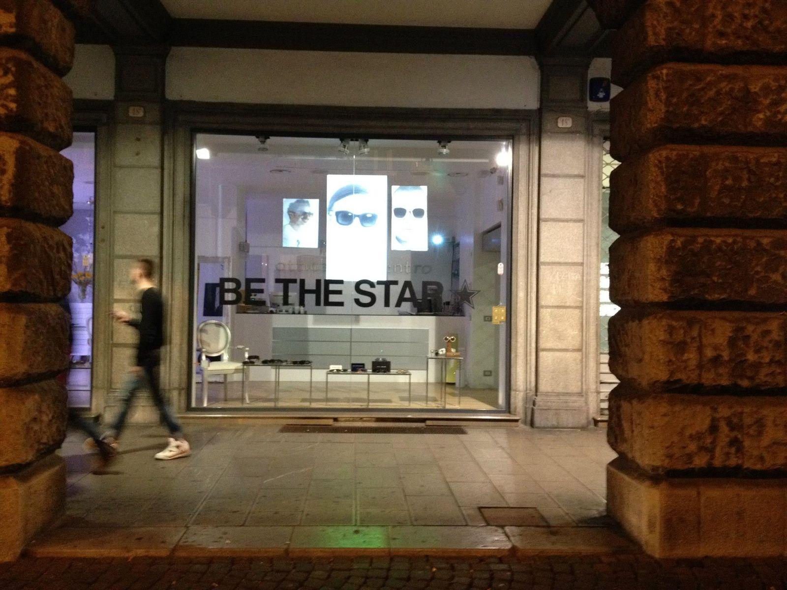 be the star ç otticaIncentro video-mapping vetrine per campagna promozionale
